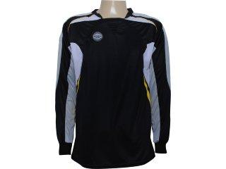 Camisa Masculina Poker 4377 Goleiro Preto - Tamanho Médio