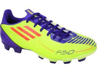 Chuteira Masculina Adidas f5 Trx G29107 Verde Limão/roxo - Tamanho Médio