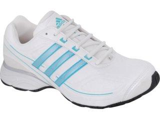 Tênis Feminino Adidas G29943 Evo Synt Branco/azul - Tamanho Médio