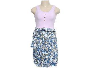 Vestido Feminino Mineral 92382 Floral/lilas - Tamanho Médio