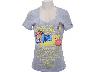 Camiseta Feminina Coca-cola Shoes 343200358 Cinza - Tamanho Médio
