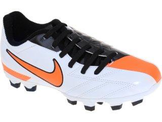 Chuteira Masc Infantil Nike jr Exacto 474134-100 Bco/pto/laranja - Tamanho Médio