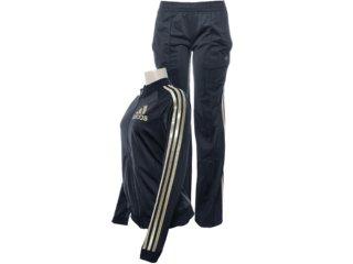 Abrigo Feminino Adidas X22218 Preto/ouro - Tamanho Médio
