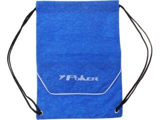 Bolsa Masculina Poker 11952 Azul - Tamanho Médio