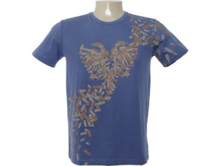 Camiseta Masculina Cavalera Clothing 01.01.6632 Azul - Tamanho Médio