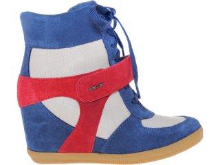 Sneaker Feminino Quiz 69902 Marinho/verm/bege - Tamanho Médio