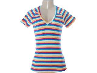 Blusa Feminina Coca-cola Clothing 363202468 Listrado - Tamanho Médio