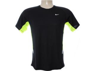Camiseta Masculina Nike 480750-011 Preto/limão - Tamanho Médio
