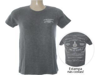 Camiseta Masculina Dzarm 6bwg Nlp10 Grafite - Tamanho Médio