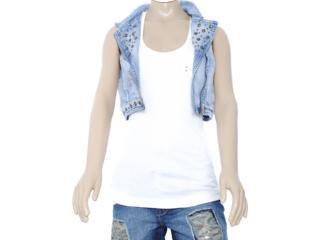 Colete Feminino Lado Avesso 80285 Jeans - Tamanho Médio