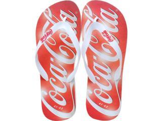Chinelo Masculino Coca-cola Shoes Cc0225 Branco - Tamanho Médio