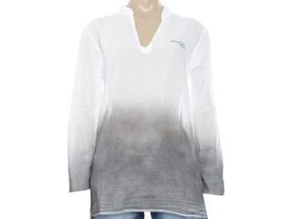 Camisa Feminina Coca-cola Clothing 373200022 Branco/cinza - Tamanho Médio