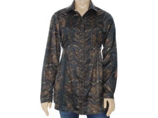 Camisa Feminina Moikana 6135 Preto - Tamanho Médio