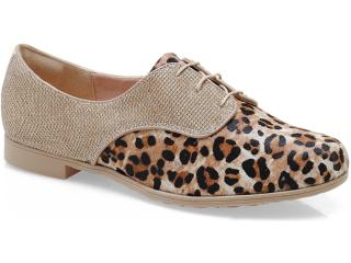 Sapato Feminino Dakota 5273 Bege/ouro - Tamanho Médio