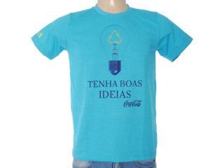 Camiseta Masculina Coca-cola Clothing 353203337 Azul - Tamanho Médio