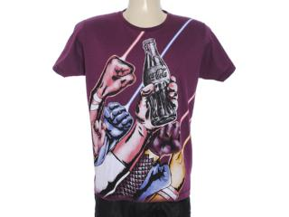 Camiseta Masculina Coca-cola Clothing 353203307 Beringela - Tamanho Médio