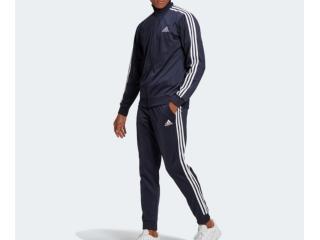 Abrigo Masculino Adidas Gk9658 Essentials 3s Marinho/branco - Tamanho Médio