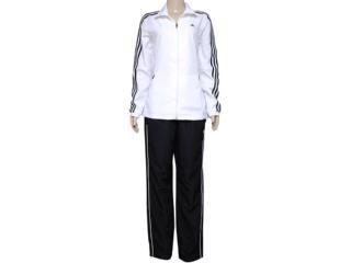 Abrigo Feminino Adidas X20406 Ess 3s Woven su  Branco/preto - Tamanho Médio