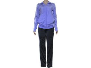 Abrigo Feminino Adidas S23595 Knit w Lilas/preto - Tamanho Médio