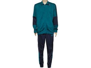Abrigo Masculino Adidas Ak0381 Iconic Knit m Verde/grafite - Tamanho Médio