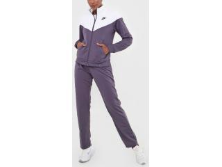 Abrigo Feminino Nike Bv4958-573 Trk Suit pk Roxo/branco - Tamanho Médio