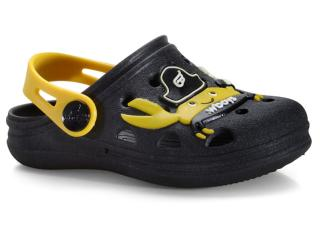 Babuche Masc Infantil World Colors 126.014 Preto/amarelo - Tamanho Médio
