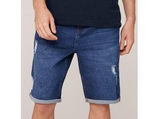 Bermuda Masculina Dzarm Zc4v 1csn Jeans Escuro - Tamanho Médio