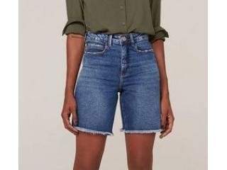 Bermuda Feminina Dzarm Zc4g 1asn Jeans - Tamanho Médio