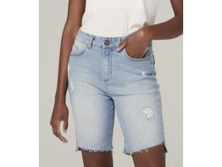 Bermuda Feminina Dzarm Zbl8 1bsn Jeans - Tamanho Médio