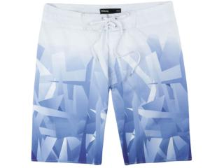 Bermuda Masculina Hering Ktup 1hsi Branco/azul - Tamanho Médio