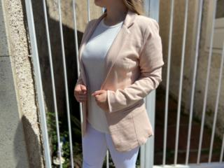 Blazer Feminino Lado Avesso 109617 Bege - Tamanho Médio