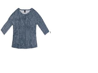 Blusa Feminina Hering 4e27 2ben Azul/branco - Tamanho Médio