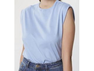 Blusa Feminina Hering 4ae1 Az8en Azul Claro - Tamanho Médio