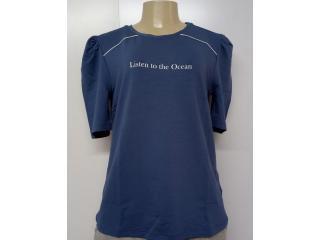 Blusa Feminina Lado Avesso L114469 Azul Jeans - Tamanho Médio