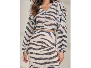 Blusa Feminina Lado Avesso L115729 Tigre Siberiano - Tamanho Médio