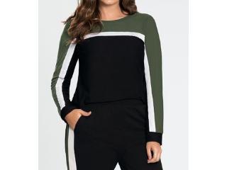 Blusa Feminina Lunender 60174 Verde/preto - Tamanho Médio