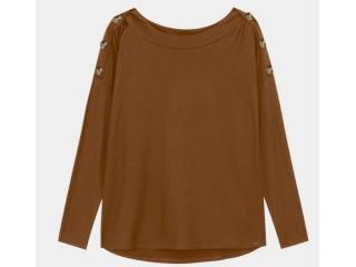 Blusa Feminina Lunender 60173 Marrom - Tamanho Médio