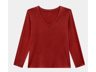 Blusa Feminina Lunender 00450 Vermelho - Tamanho Médio