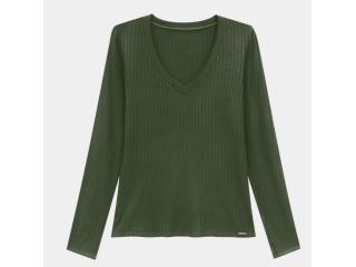 Blusa Feminina Lunender 00344 Verde - Tamanho Médio