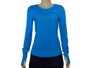 Blusa Feminina Nike 645445-435 Racer Long-sleeve  Azul - Tamanho Médio