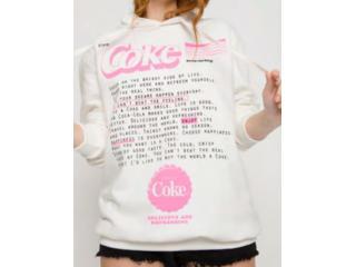 Blusão Feminino Coca-cola Clothing 403200487 58529 Off White - Tamanho Médio
