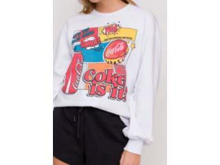 Blusão Feminino Coca-cola Clothing 403200508 001 Branco - Tamanho Médio