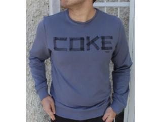 Blusão Masculino Coca-cola Clothing 413200334 Cinza - Tamanho Médio