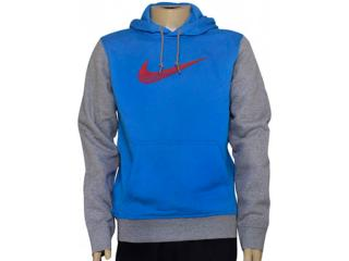 Blusão Masculino Nike 727755-436 Club Fleece Swoosh Azul/cinza - Tamanho Médio