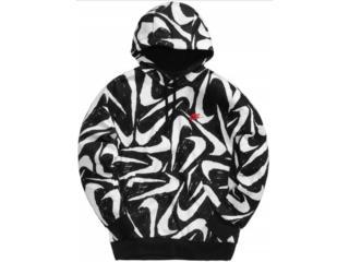 Blusão Masculino Nike Ck2230-010 Club Hoodie Preto/branco - Tamanho Médio