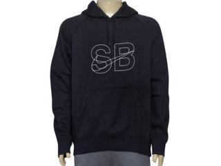 Blusão Masculino 835977-010 Nike sb Icon Hoodie  Preto - Tamanho Médio