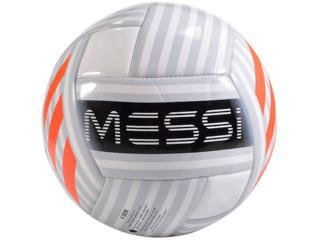Bola Masculina Adidas Bq1369 Messi Glider Branco/prata/laranja - Tamanho Médio