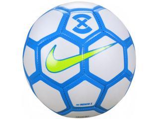 Bola Unisex Nike Sc3039-103 Menor x Football Branco/azul/limão - Tamanho Médio