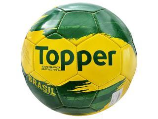 Bola Unisex Topper 4130326 Brasil Verde/amarelo - Tamanho Médio