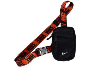 Bolsa Unisex Nike Ba5904-010 Essentials Preto/laranja - Tamanho Médio